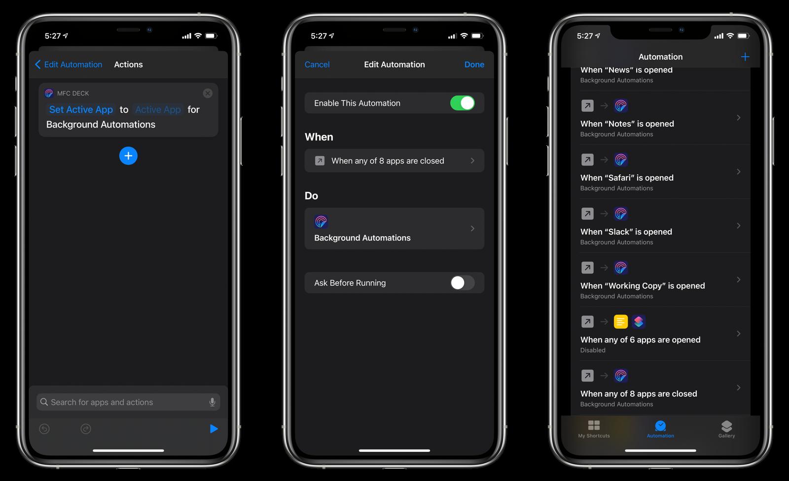 Close App automation setup #2