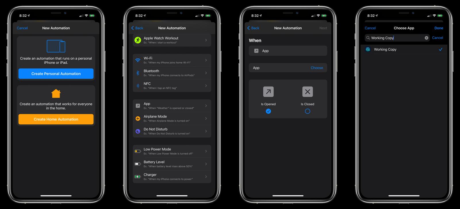 Open App automation setup #1