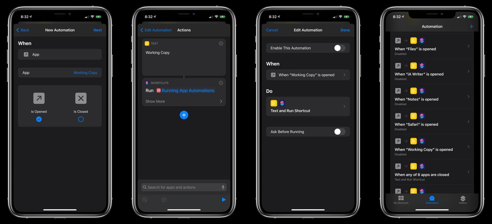 Open App automation setup #2